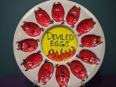 Deviled eggs, anyone?   Fun egg plate!!