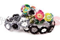 Flower Burst Rainbow Loom Bracelet - Advanced Starburst Tutorial