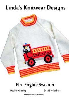 fire engine knitting pattern