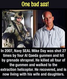 Mike Day, retired Navy SEAL                                                                                                                                                     More