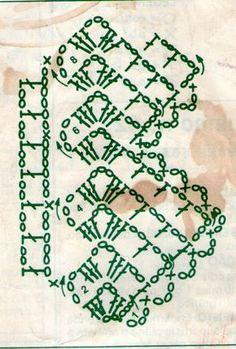 Barradinhos de crochê e tricô para toalhas e panos de pratos com gráfico