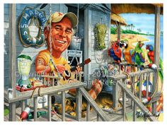 Jimmy Buffett_2010 (11x14) caricature picture poster art print by Don Howard
