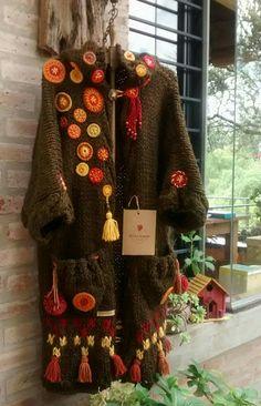 Crochet Chain, Knit Crochet, Knitting Patterns, Crochet Patterns, Thread Art, Funky Fashion, Crochet Home, Crochet Fashion, Mandala Design