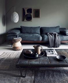 48 Unique Living Room Decor Ideas For Home Design - Many Americans are downsizing their homes due to the bad economy. This presents new design challenges to people who may not be used to living in small. Cozy Living Rooms, Living Room Grey, Living Room Sofa, Living Room Interior, Living Room Furniture, Apartment Living, Apartment Interior, Morden Living Room, Dining Rooms