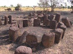 Stone Circles of Senegambia The site consists of four large groups of stone circles that represent an extraordinary concentration of over 1,000 monuments in a band 100 km wide along some 350 km of the River Gambia.