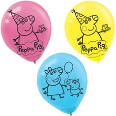 Peppa Pig Latex Balloons 6ct 12in | Wally's Party Factory #peppa #pig #balloons