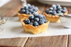 Blueberry custard tarts! Can't wait for summer.