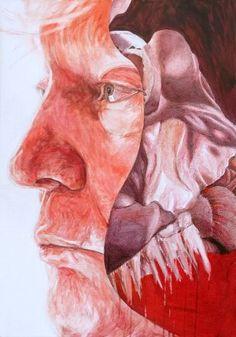 """Saatchi Art Artist Sebastian Konrad Sleczka; Painting, """"D.T. Cut II"""" #art"""