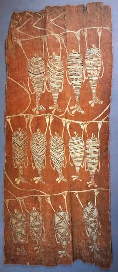 aboriginal art depicting flying foxes hanging from tree branches #aboriginal art #aboriginal #australian painting indigenous Australian art Aboriginal art kids aboriginal art Australian aboriginal painting