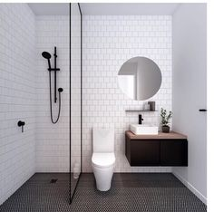 Modern Small Bathroom Design The Basic Components of Modern Bathroom Designs Modern Small Bathroom Design. Incorporating a modern bathroom design will give you a more … Laundry In Bathroom, Master Bathroom, Bathroom Black, Simple Bathroom, Colorful Bathroom, Bathroom Modern, Budget Bathroom, Master Baths, Small Bathroom Layout