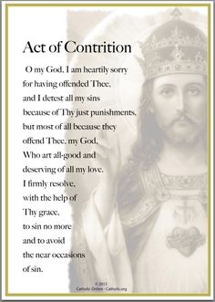 Prayers - Act of Contrition by Catholic Shopping .com | Catholic Shopping .com FREE Digital Download PDF