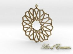 A new pendant design. The Alhambra Star Knot Pendant. I may add some Earrings to create a set. This rendering is how it may look in Gold Plated Steel.