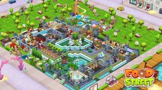Food Street Game, Clash Of Clans, Restaurant Design, Games, Beautiful, Gaming, Plays, Game, Toys