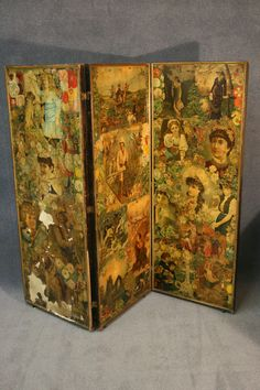 Victorian screen/decoupage