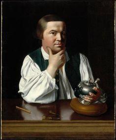 John Singleton Copley, Paul Revere, 1768. Museum of Fine Arts, Boston.