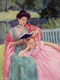 Auguste Reading to Her Daughter, by Mary Cassatt. 1910