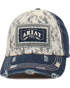 50a332efe5c42 Ariat Women s Denim  n Lace Ballcap Women s Country Outfits