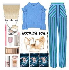 """Rock the Vote"" by dorinela-hamamci ❤ liked on Polyvore featuring Burberry, MSGM, Perrin, Essie, Dolce&Gabbana, By Terry, Benefit, Too Faced Cosmetics, Giorgio Armani and Urban Decay"