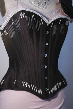 Black Corded Reproduction Corset