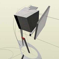 """El Lissitzky - """"The Prouns"""" Su afán por integrar la pintura y la arquitectura le llevó, hacia 1919, a crear sus primeros Proun. La palabra Proun, es un acrónimo de las palabras rusas «PROyect Utverzhdenia Novogo» (Proyecto para la Afirmación de lo Nuevo).Se trata de composiciones de tipo geométrico con acusados efectos espaciales y arquitectónicos en los que se han abolido todas las leyes tradicionales de la perspectiva."""