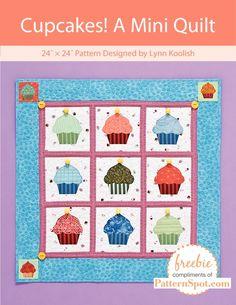 Free cupcake mini quilt pattern