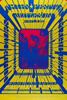 Jefferson Airplane at the Vancouver Trips Festival, May 27, 1967. Artwork by Bob Masse