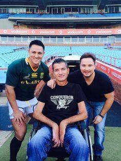 'n Suid-Afrikaanse rugby-legende word met 'n spesiale liedjie en musiekvideo veereer. Get Reading, Feb 2017, Pretoria, Afrikaans, Real Man, Suzy, The Man, South Africa, Celebs