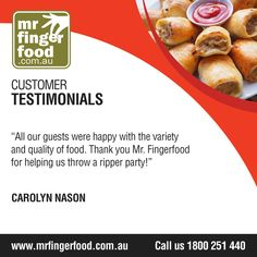 We'll help you throw a lovely party! For enquiries and bookings, call their party planner Nancy at 1800 251 440 (FREE CALL), Mondays to Sunday, 8AM-8PM.   #fingerfood #spitroastcatering