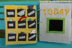 Great Weather Felt page for each days weather! ...... by AllAboutKraft on Etsy