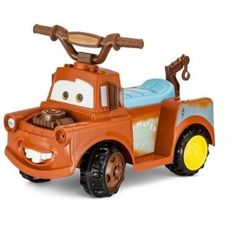 Disney Cars Mater 6V Battery Powered Ride-On Quad Brown