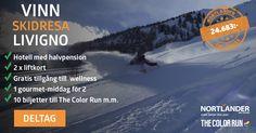 Vinn skidresa för 2 personer till Livigno + The Color Run biljetter (värde 24.683kr)