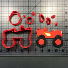 Visit our website for over custom cookie cutters, silicone molds and stencils perfect for any occasion! Festa Monster Truck, Monster Truck Cookies, Monster Trucks, Monster Truck Birthday, Torta Blaze, Blaze Cakes, Custom Cookie Cutters, Cookie Cutter Set, Custom Cookies