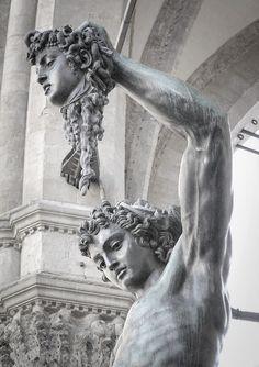"1545 - detail of Cellini's ""Perseus with the head of Medusa"", loggia dei lanzi, florence"