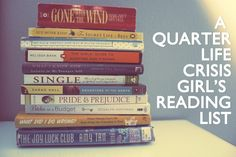 "Books every woman in her mid-twenties ""should"" read - pinning now & reading later :)"
