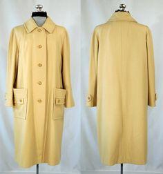 Vintage 1960s wool coat creamy pale camel by VintageRoseTattoo