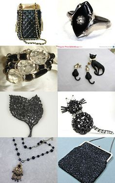 A black cat crossing your path signifies that the animal is going somewhere by Anat on Etsy--Pinned with TreasuryPin.com