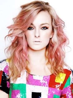 Pink hair highlights anybody?!    #pinkhair #pinkhighlights #hairstyles