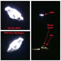 UFO Probes Car With Green Laser, Event Captured On Video    Beyond Science