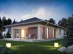 Wizualizacja TP Kreo 2 CE One Floor House Plans, 6 Bedroom House Plans, Dream House Plans, Home Building Design, Home Design Plans, Building A House, House Design, Model House Plan, Facade House