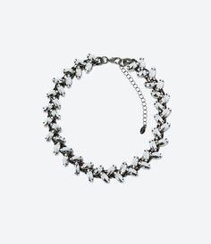 Image 1 of RHINESTONE NECKLACE from Zara
