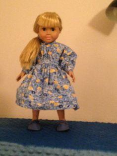 Blue and Yellow Print School Dress by TreasuresbyScira on Etsy
