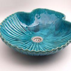 Bathroom Ceramic Sink Shell - Hand Formed - Sink Shell