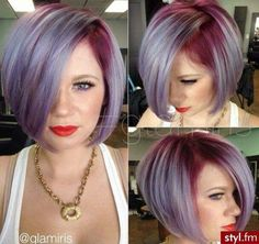 Trendy Hair Color Picture DescriptionThis is my ideal hair cut,but the color would definitely have to have pastel pink in it☺ Lilac Hair, Haircut And Color, Funky Hairstyles, Grunge Hair, Dream Hair, Rainbow Hair, Hair Dos, Her Hair, Hair Inspiration