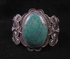 Kirk Smith Old Pawn Style Navajo Turquoise Sterling Silver Bracelet | eBay