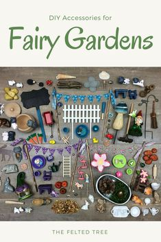 DIY accessories for Fairy Gardens. We are so making a fairy garden this year! #LandscapeCity #miniaturegardens