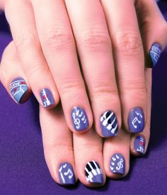 Justin Bieber inspired nail art from The Nail Spa   www.thenailspa.com