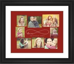 Love Infinity Framed Print, Black, Classic, Black, White, Single piece, 16 x 20 inches, Red
