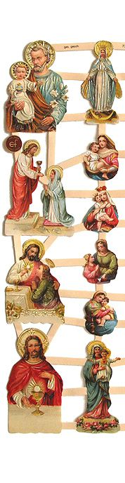 Beautiful Victorian religious scraps from Germany for Christmas projects