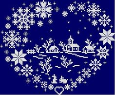 Christmas cross-stitching (no link or pattern, just inspiration. Santa Cross Stitch, Cross Stitch Heart, Cross Stitch Christmas Ornaments, Christmas Cross, Merry Christmas, Cross Stitching, Cross Stitch Embroidery, Cross Stitch Designs, Cross Stitch Patterns