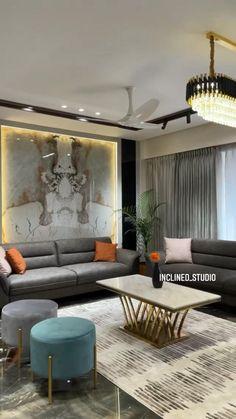 Living Room Partition Design, Ceiling Design Living Room, Home Design Living Room, Room Design Bedroom, Bedroom Furniture Design, Living Room Colors, Living Room Interior, Bed Furniture, Small House Interior Design